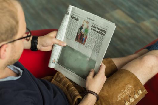 LederhosenDonnerstag in der Kronen Zeitung